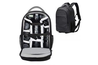 (Black) - Camera Backpack Abonnyc Waterproof Camera Bag for Sony Canon Nikon Olympus SLR/DSLR Camera bag, Lens and Accessories (Black)