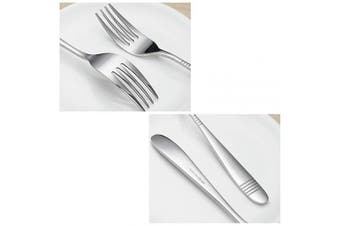 Begale Stainless Steel 6-Piece Large Serving Fork, Buffet & Banquet Serving Utensil