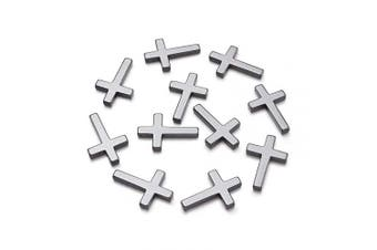 (Hematite Cross) - Beadthoven 20pcs Non-Magnetic Synthetic Hematite Cross Pendants Crucifix Charms for DIY Crafts Projects Jewellery Making Findings fit Handmade Necklace Bracelet Earrings Choker 23x35x4mm