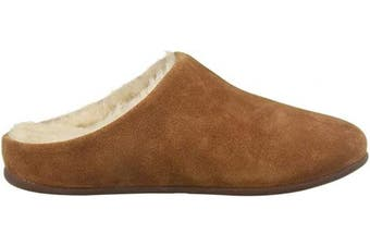 (6 UK, Brown (Tumbled Tan 645)) - Fitflop Women's Chrissie Shearling Open Back Slippers