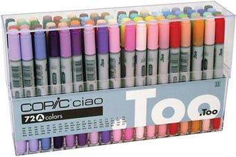 (Color Set A) - Copic Premium Artist Markers - 72 colour Set A - Intermediate Level