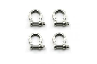 Heyous 4pcs 1/4 Inch 6mm Screw Pin Anchor Shackle Stainless Steel Heavy Duty Bow Shape Load Clamp for Chains Wirerope Lifting Paracord Outdoor Camping Survival Rope Bracelets