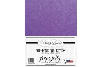 (Grape Jelly) - Grape Jelly Purple Cardstock Paper - 22cm x 28cm 29kg. Cover -50 Sheets from Cardstock Warehouse