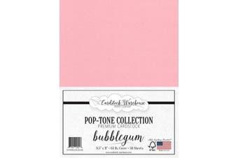 (Bubblegum) - Bubblegum Pink Cardstock Paper - 22cm x 28cm 29kg. Cover -50 Sheets from Cardstock Warehouse