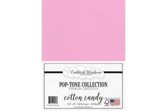 (Cotton Candy) - Cotton Candy Pink Cardstock Paper - 22cm x 28cm 29kg. Cover -50 Sheets from Cardstock Warehouse