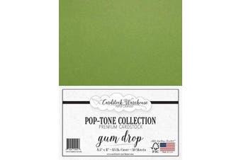 (Gum Drop Green) - Gumdrop Green Cardstock Paper - 22cm x 28cm 29kg. Cover -50 Sheets from Cardstock Warehouse
