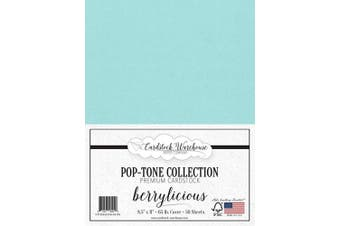 (Berrylicious) - BERRYLICIOUS Blue Cardstock Paper - 22cm x 28cm 29kg. Cover -50 Sheets from Cardstock Warehouse