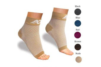 (Small, Nude) - Plantar Fasciitis Socks with Arch Support for Men & Women - Best Compression Socks Foot Sleeve for Aching Feet & Heel Pain Relief