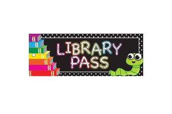 Ashley Productions ASH10635 Library Pass, Laminated, 8.9cm x 23cm , Books