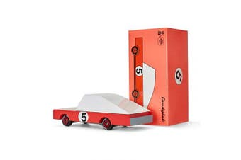 (Red Racer) - Candylab Toys - CandyCar Red Racer - Solid Beech Wood
