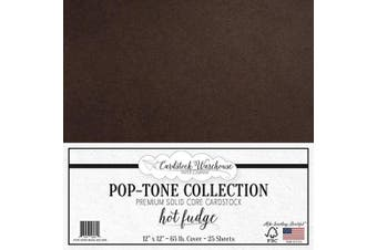 (Hot Fudge) - Hot Fudge Dark Brown Cardstock Paper - 30cm x 30cm 29kg. Premium Cover - 25 Sheets from Cardstock Warehouse