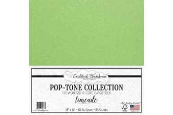 (Limeade) - Limeade Green Cardstock Paper - 30cm x 30cm 29kg. Premium Cover - 25 Sheets from Cardstock Warehouse