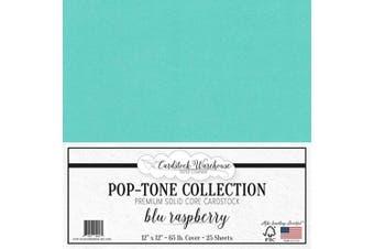 (Blu Raspberry) - Blu Raspberry/Teal Blue Cardstock Paper - 30cm x 30cm 29kg. Premium Cover - 25 Sheets from Cardstock Warehouse