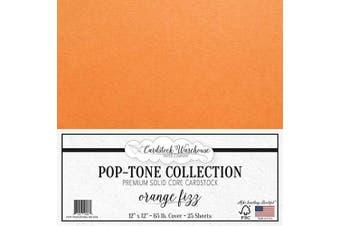 (Orange Fizz) - Orange Fizz Cardstock Paper - 30cm x 30cm 29kg. Premium Cover - 25 Sheets from Cardstock Warehouse