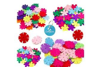 Carykon 3 Styles Craft Felt Flowers, Assorted Colour, 160 Pcs