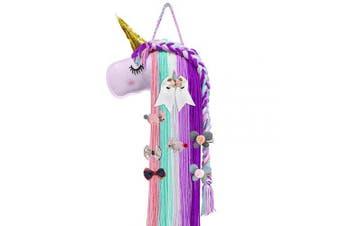 Unicorn Colour Hair Clips Holder, Girl Women Fringe Hair Bows Headband Storage Organiser Unicorn Theme Party Decorations