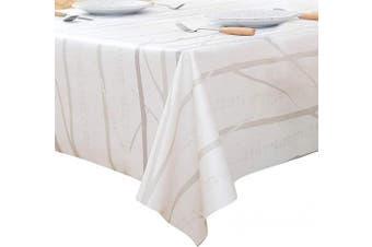"""(54"""" x 54""""-140x140 cm, Tree Branch) - LEEVAN Heavy Duty Waterproof Spillproof Chevron Pattern Fabric Home Decoration Table Cover Tablecloth (54"""" x 54""""-140x140 cm, Tree Branch)"""