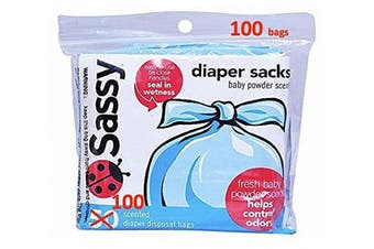 Sassy Disposable Scented Nappy Sacks, 100 Count