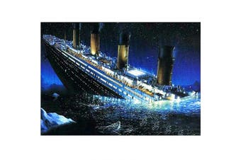 DIY 5D Diamond Painting by Number Kit, Full Drill Titanic Rhinestone Embroidery Cross Stitch Picture Art Craft Home Wall Decor 30cm x 40cm