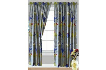 All American Collection New 4 Piece Dinosaur Curtain Set, Matching Sheet Set and Comforter Set Available (Curtain Set)