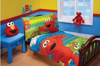 (ABC 1234) - Sesame Street ABC 123 4 Piece Toddler Set