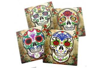 Sugar Skull Spirit Coasters - Set of 4