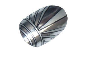 Chix Nails Nail Wraps Art Deco Silver Chrome Fingers Toes Vinyl Foils