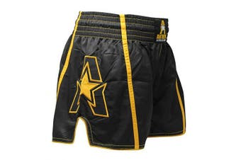 (Small, Ghost Gold G2) - Anthem Athletics Infinity Muay Thai Shorts - Kickboxing, Thai Boxing, Striking