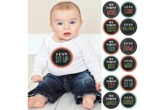Baby's First Milestone Sticker Set - Baby Shower Gift Ideas - Set of 12