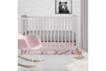 Glenna Jean Camo Baby 2pc Starter Set (Includes Sheet, Skirt), Pink, Crib