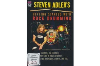 Steven Adler's Getting Started with Rock Drumming [Region 2]