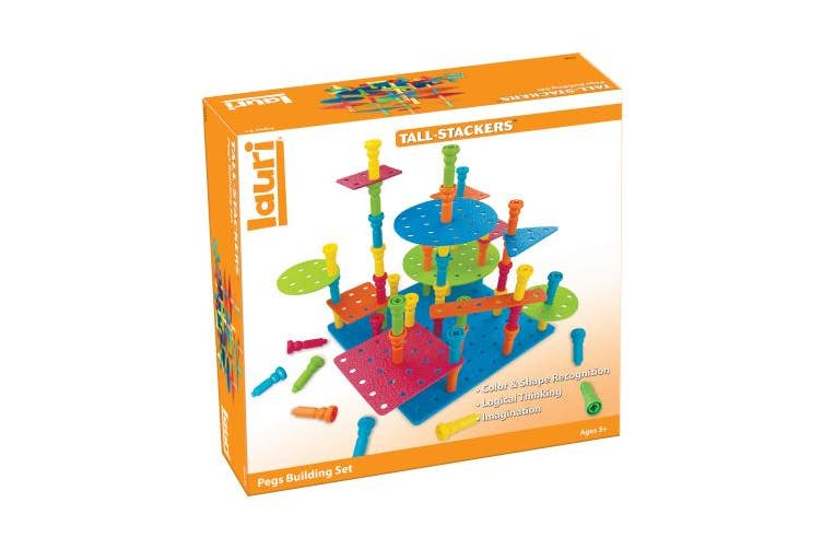PlayMonster Lauri Tall-Stackers - Pegs Building Set