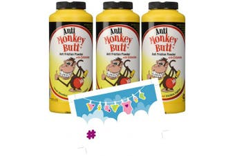 Baby Anti-Monkey Butt Nappy Rash Powder, 180ml Bottle - 3 Pack