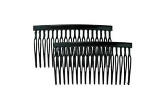 (8.9cm , Black) - Camila Paris CP837/2 8.9cm French Hair Side Combs, Strong Hold Grip Hair Clips for Women, No Slip and Durable Styling Girls Hair Accessories, Made in France with Cellulose
