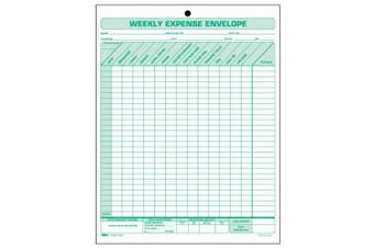 TOPS BUSINESS FORMS                                Weekly Expense Envelope, 20 Forms