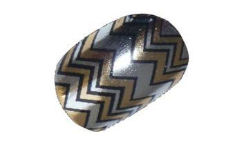 Chix Nails Nail Wraps Aztec Gold Silver Designer Fingers Toes Vinyl Foils