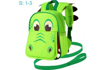 "(24cm  Leash Backpack, 9.5"" Dinosaur Green 1-3 Years Old(s)) - Toddler Backpack Leash, 24cm Safety Harness Dinosaur Bag - Removable Tether"