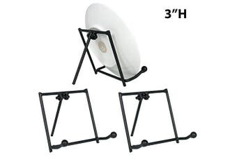 Black Metal Easels Wrought Iron Display Plate Stand - 8.9cm High - Set of 3