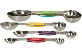 (5 Piece Set, Snap Fit - Stainless Steel) - Prepworks from Progressive Stainless Steel Snap Fit Measuring Spoons, Set of 5