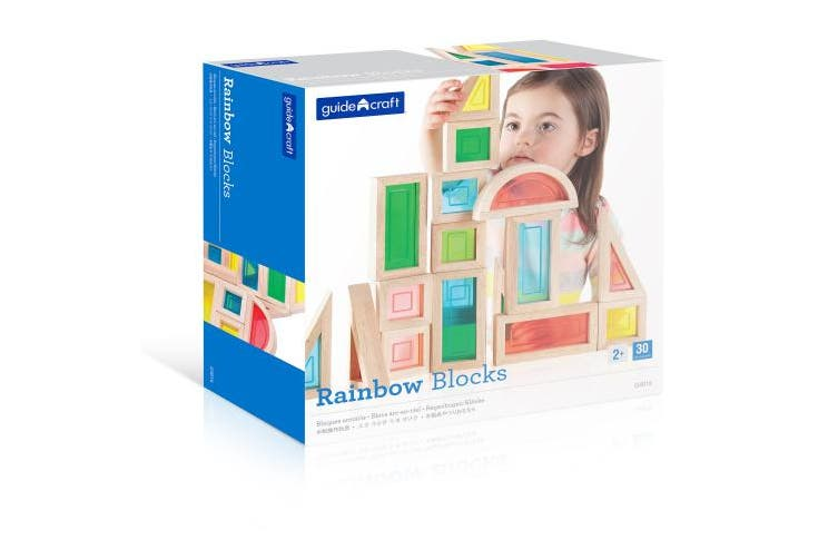 Guidecraft USA Rainbow Blocks Building Kit