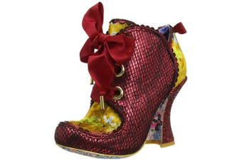 (7.5 UK, Red (Red Floral Atomic)) - Irregular Choice Women's Baroness Ankle Boots