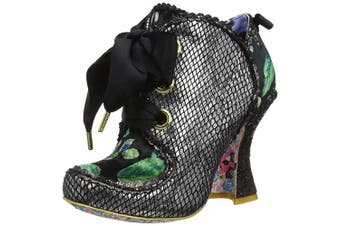 (8 UK, Black (Black Floral H)) - Irregular Choice Women's Baroness Ankle Boots