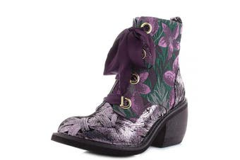 (4 UK, Pink (Pink/Black J)) - Irregular Choice Women's Quick Getaway Ankle Boots