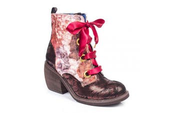 (7.5 UK, Burgundy Multi (Burgundy Multi M)) - Irregular Choice Women's Quick Getaway Ankle Boots