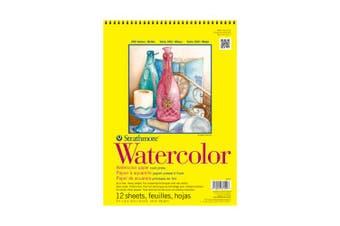 Strathmore 360-9 300 Series Watercolour Pad, Cold Press, 23cm x 30cm Wire Bound, 12 Sheets