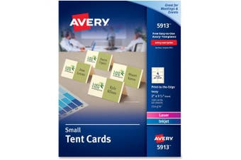 Avery Small Ivory Tent Cards, Laser/Inkjet Printers, 5.1cm x 8.9cm , Pack of 160 (5913)