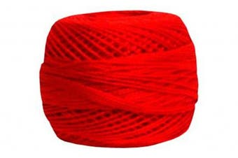 DMC 12526 DMC Pearl Cotton Balls Size 8 - 95 Yards-Bright Red