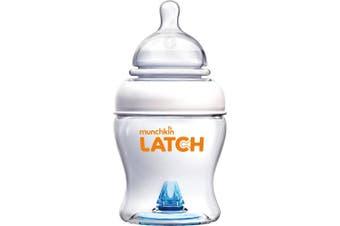 Munchkin Latch Anti-Colic Baby Bottle with Ultra Flexible Breast-like Nipple, BPA Free, 120ml