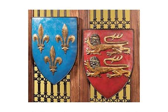 (Set of 2) - Design Toscano Grand Arms of France Wall Shield Collection- Set of Two