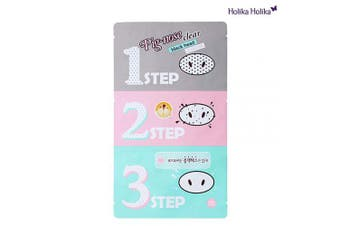 (Pig Nose Clear Black Head 3-Step Kit (5 Set)) - [Holika Holika] Pig Nose Clear Black Head 3-Step Kit x 5 Set
